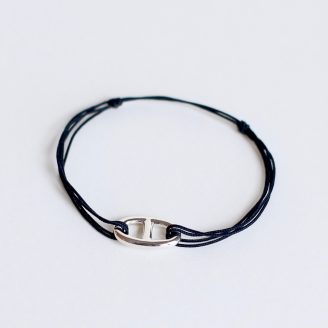 BRACELET COULISSANT : MAILLON MARIN